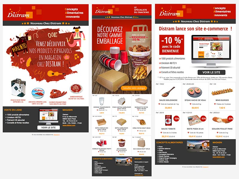 DISTRAM - site e-commerce B2B