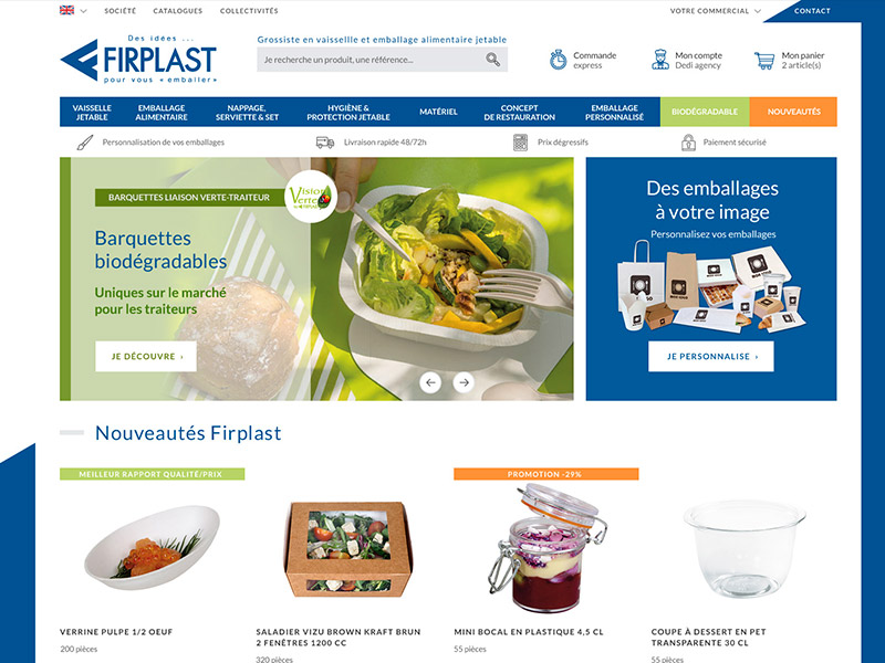 FIRPLAST - site e-commerce B2B